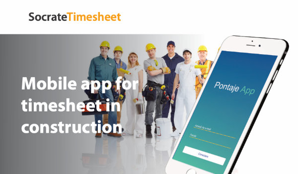 Socrate Timesheet - Mobile app for timesheet in construction