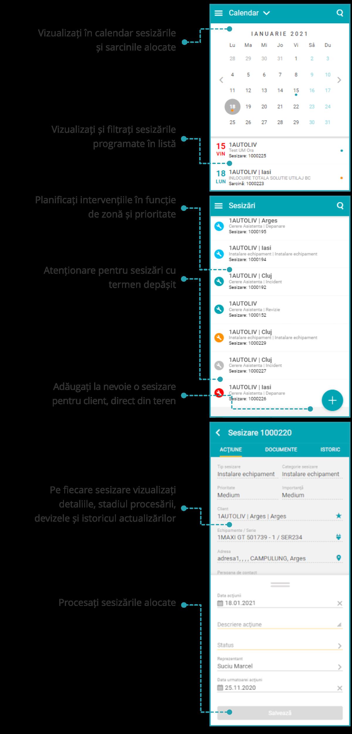 SocrateService - Aplicație mobilă pentru reprezentanții de service