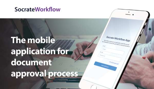 The mobile application for document approval process