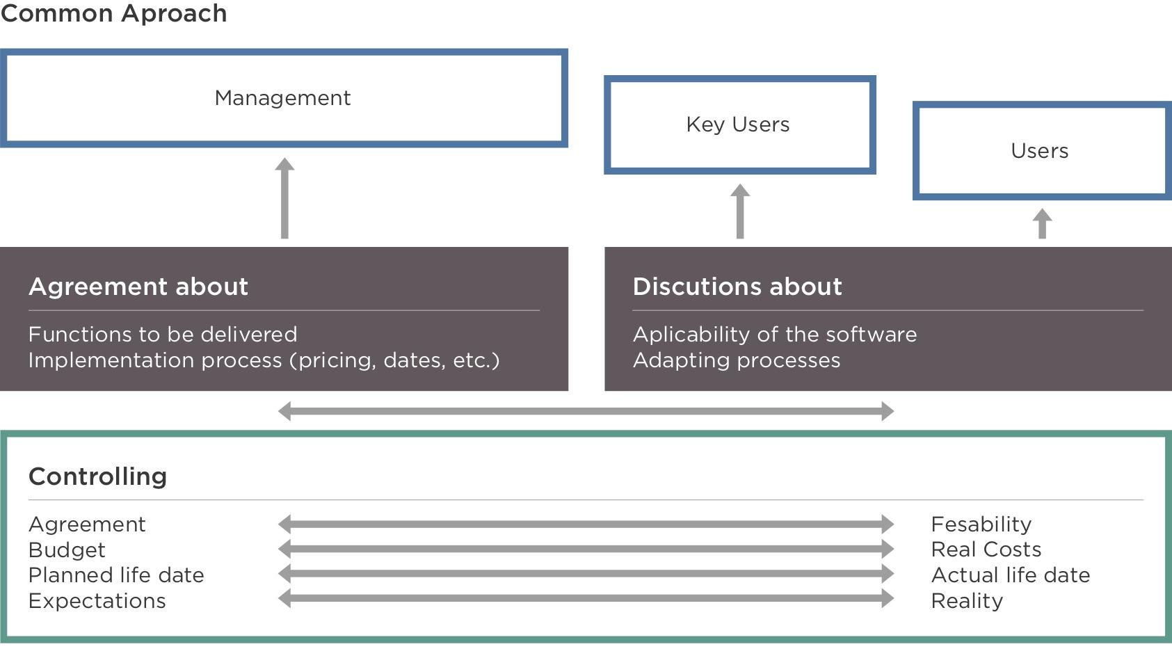 Abordarea clasică de implementare proiect ERP
